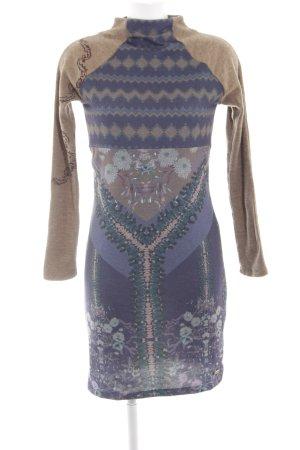 Smash Wollkleid braun-lila Mustermix extravaganter Stil