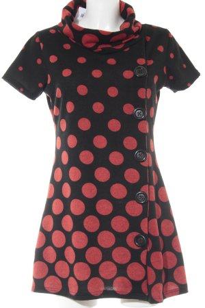 Smashed lemon A-Linien Kleid schwarz-rot Punktemuster Casual-Look