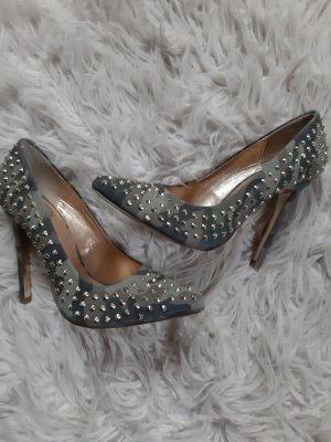 SMH High Heels sage green-green grey