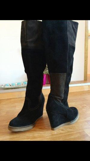 SMH Leder Stiefel schwarz 39