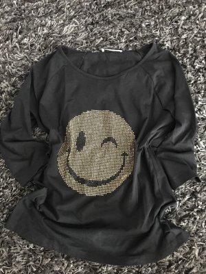 Smiley Shirt von Rick Cardona - schwarz - Gr S