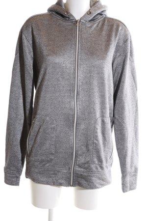 SMOG Sweat Jacket light grey flecked athletic style