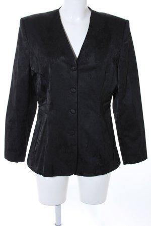 Smoking-Blazer schwarz florales Muster 70ies-Stil