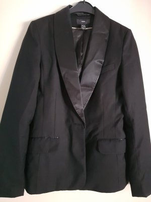 H&M Blazer de esmoquin negro Viscosa
