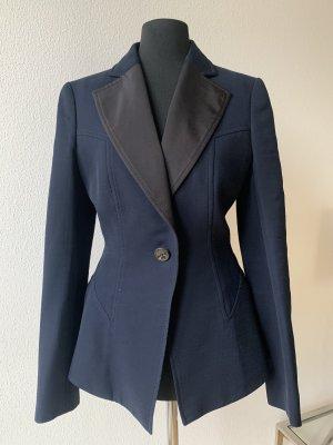 Escada Blazer de esmoquin negro-azul oscuro