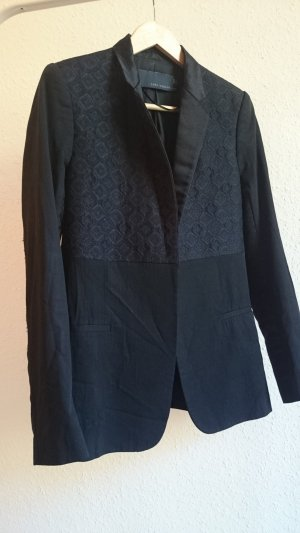 Zara Woman Tuxedo Blazer black-dark blue
