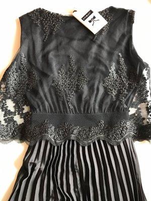 Smooph Kleid Abendkleid Ball Spitze Plissee Schwarz Gr.34-36 Neu