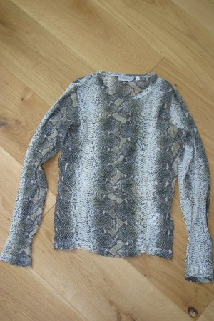 Snakeprint Hennes Collection Langarmshirt Gr. S - leicht transparent