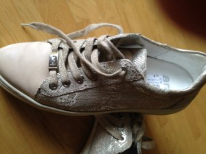 ara Sneakers met veters goud Leer