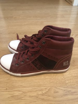 His Wedge Sneaker bordeaux