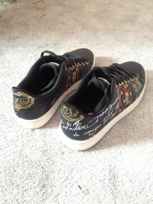 Desigual Sneakers met veters zwart Synthetisch