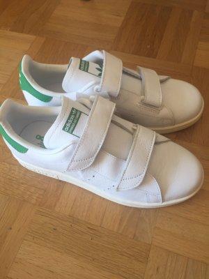 Adidas Basket velcro blanc-vert