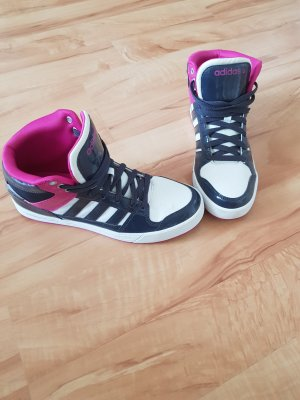 Adidas NEO High top sneaker roze-blauw