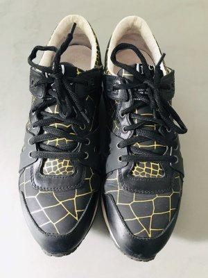Sneaker Alexander McQueen schwarz gold 38