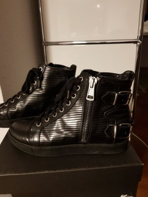 All Saints High top sneaker zwart-zilver