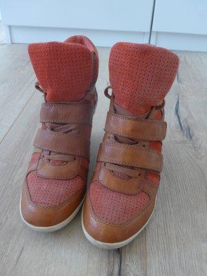 Sneaker, ASH, integrierter Absatz, Farbe cognac-orange