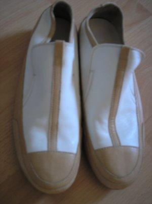 Sneaker beige /weiß Gr. 37 neu Rohde