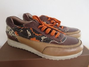 Candice Cooper Sneaker stringata marrone-arancione Pelle