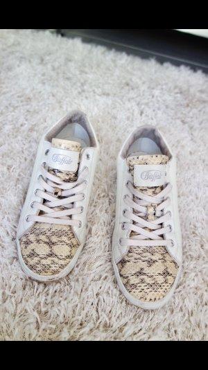Sneaker Buffalo 38 weiss beige Schuhe Sportschuh Turnschuh