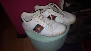 Basket à lacet blanc-vert forêt