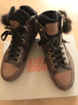 Candice Cooper Lace-Up Sneaker brown-bronze-colored