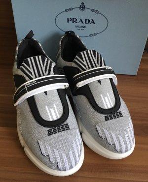 Prada Sneaker con strappi argento-grigio chiaro