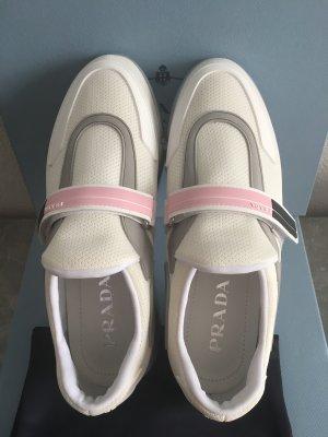 Prada Velcro Sneakers white