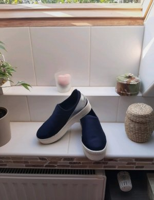 Slip-on Shoes silver-colored-dark blue