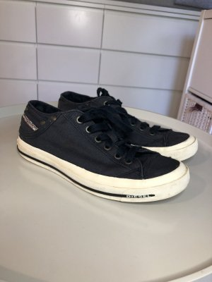 Sneaker Diesel Industry navy dunkelblau Sportschuhe Low Tops Stoff Chucks 39