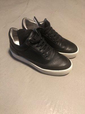 Filling Pieces Sneaker stringata bianco-nero