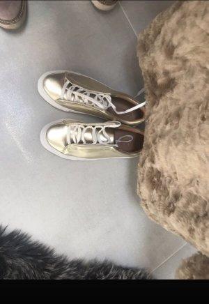 Sneaker  Gold/ weiß