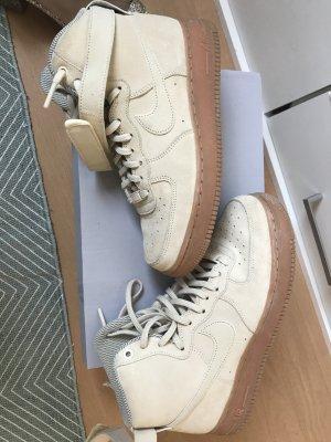 Sneaker High Air Force 1 One Wildleder Suede beige nude 40 High Top