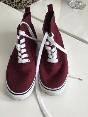 Sneaker high bordeauxrot Gr. 36 H&M Divided