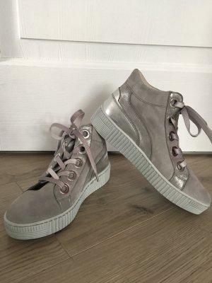 Sneaker high - stone/silber