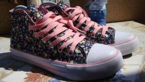 High top sneaker veelkleurig Katoen
