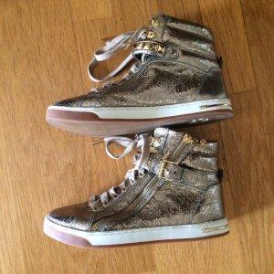 Michael Kors Sneaker alta oro Pelle