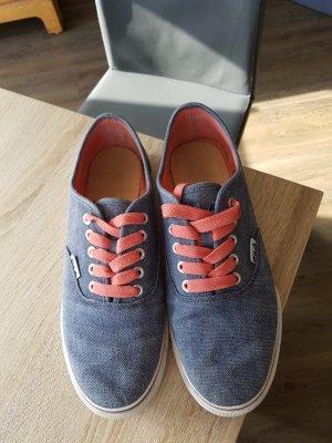 Sneaker in blau/korall