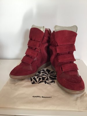buy popular 1606e bb22b Isabel Marant Velcro Sneakers multicolored suede