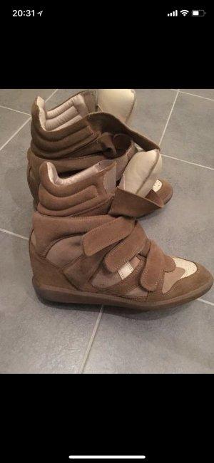 Isabel Marant Sneaker con tacco beige-color cammello