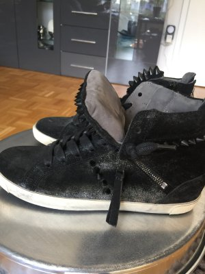 Sneaker Kennel & Schmenger schwarz Glitzer mit Nieten Leder 38