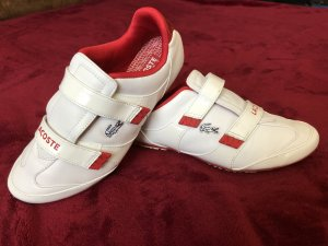 Lacoste Zapatillas con velcro rojo oscuro-blanco
