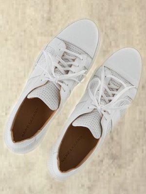Sneaker / Leder / Weiß