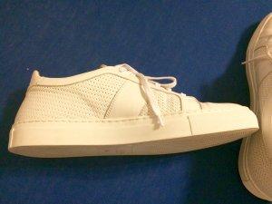 Sneaker/ Leder/ Weiß/