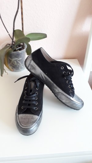 Candice Cooper Lace-Up Sneaker black leather