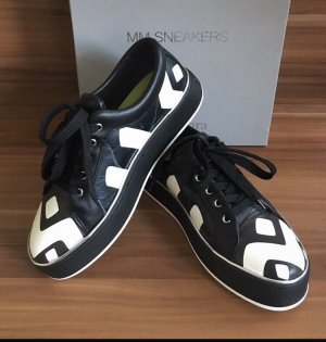 Max Mara Sneaker alta nero-bianco Pelle