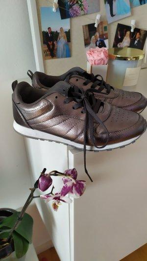 Sneaker Metallic Silber Gr. 39
