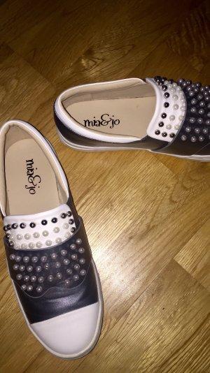 Sneaker Mia & Jo silber/weiß Super Zustand!!!
