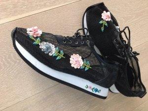 Sneaker mit Blütenapplikation Pailetten Gr. 37