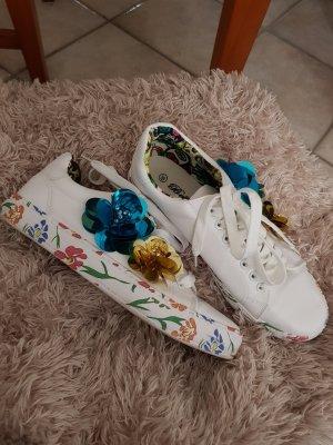 Sneaker mit Blumen - Gr. 39 - 2x getragen