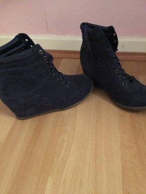 Sneaker mit Keilabsatz Blau
